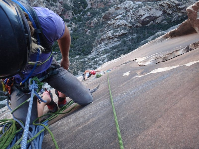 Looking down pitch 5