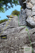 Rock Climbing Photo: Left end 186
