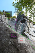 Rock Climbing Photo: Left end Chauve Souris 187