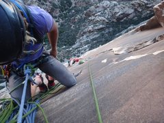 Rock Climbing Photo: Getting ready to downclimb.