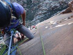 Rock Climbing Photo: Getting ready to downclimb.