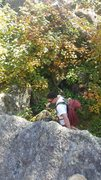 Rock Climbing Photo: gettin there