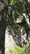 Rock Climbing Photo: settin up