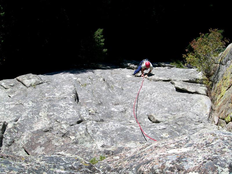 Rock Climbing Photo: Deb on the upper bit.