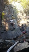 Rock Climbing Photo: buddies first climb, couldnt understand that falli...