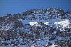 Rock Climbing Photo: Niagara Peak's NE Face (route on lower left).