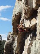 Rock Climbing Photo: Logan looking casual.