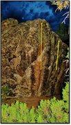 Rock Climbing Photo: Hootenanny problem in orange.