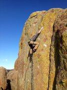 Rock Climbing Photo: Evan Martin getting high feet on the FA of First W...