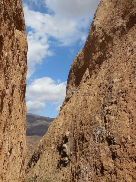 Rock Climbing Photo: Looking down the Corridor, to the north, at a clim...