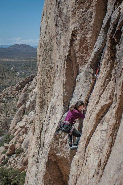 Climbing at Jtree