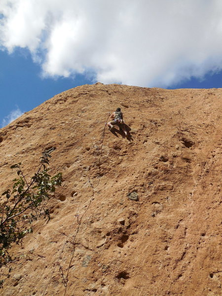 "Rock Climbing Photo: Sending ""Rise & Shine."""