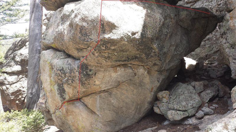 Rock Climbing Photo: Most of the problem.