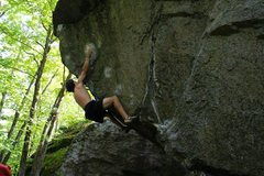 Rock Climbing Photo: Sticking the crux on Flux