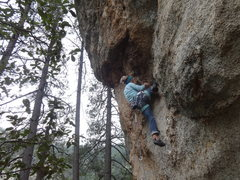 Rock Climbing Photo: Solid knee-bar.