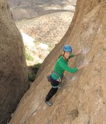 """Rock Climbing Photo: Pam leading on the FA of """"Betty Does Brownsvi..."""