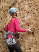 Rock Climbing Photo: Underclinging a pocket on the I bouldery start of ...