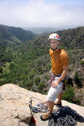 Rock Climbing Photo: With a marine layer obscuring the view of the ocea...