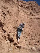 Rock Climbing Photo: Me, starting up pitch 1. Photo by Fran Bagenal