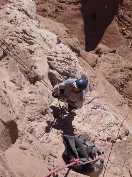 Rock Climbing Photo: Chip Wilson jumaring past the styrofoam section on...