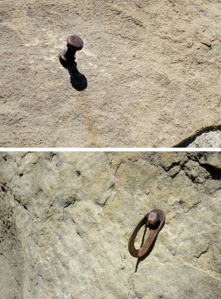 Rock Climbing Photo: If you enjoy old, rusty bolts, you missed your opp...
