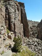 Rock Climbing Photo: Carrion Pillar. Side view.