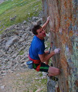 Rock Climbing Photo: Mike M. on the crux.