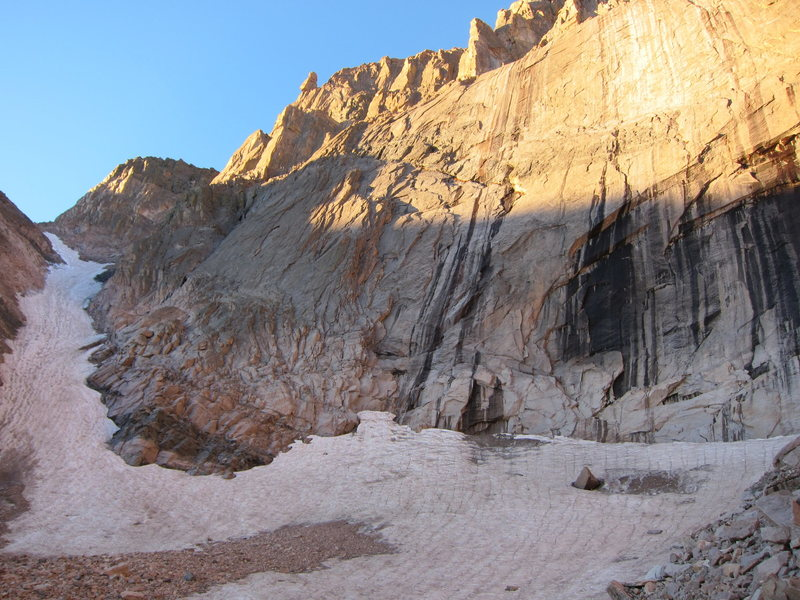 Lambslide and lower east face of Long's, 9/26/14.