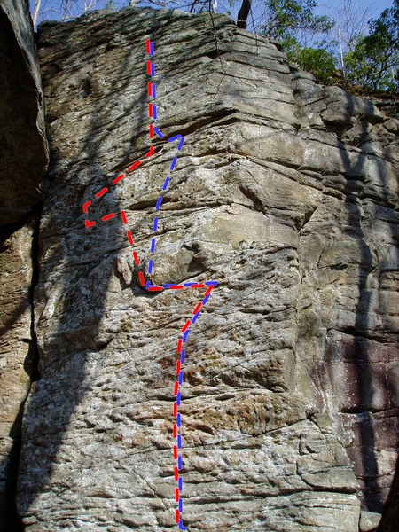 Photo credit to Jim. I just wanted to show the usual beta and possible variation that can circumvent the usual crux.