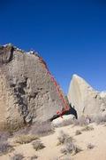 Rock Climbing Photo: Morning warm-up on Grandpa.