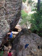 Rock Climbing Photo: Josh on Cantaloupe Death
