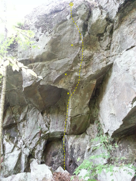 Rock Climbing Photo: Facing view of the climb. Can't see the angle. Jus...