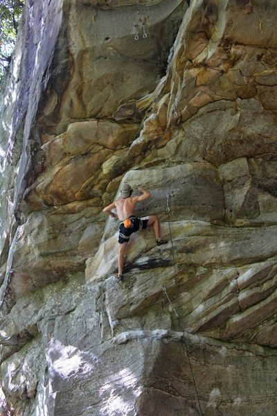 Rock Climbing Photo: 15 year old sending Narcissus