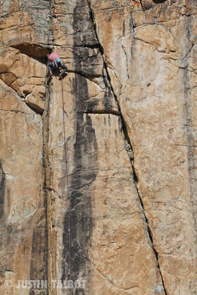 Rock Climbing Photo: Chris Barlow just past the crux.