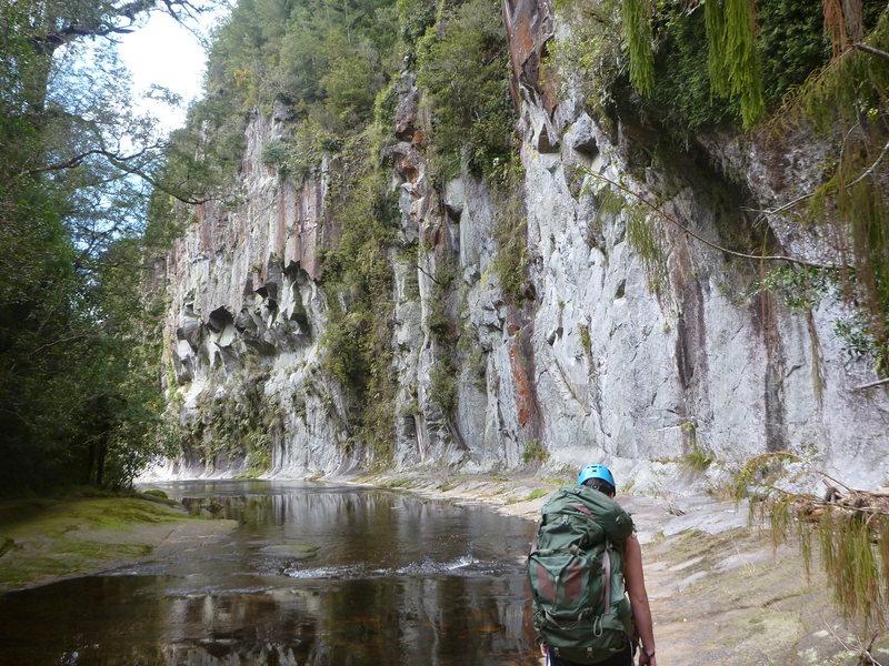 Rock Climbing Photo: River wall, Mangorewa Gorge