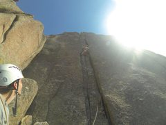 Rock Climbing Photo: Getting in the off-width.