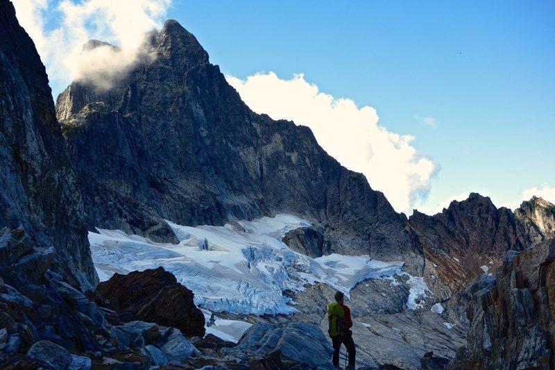 Triumph's NE Ridge from the col