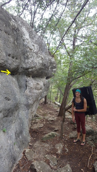 Rock Climbing Photo: suicide zone and the seam