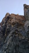 Rock Climbing Photo: Easy, blocky climbing (not much pro) up to the sol...