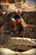 Rock Climbing Photo: Gotta lengthen my runner, dangit!