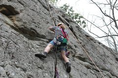 Rock Climbing Photo: Mock Trad lead on Back Crag