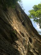 Rock Climbing Photo: Getting to the business