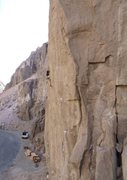 Rock Climbing Photo: Not the best scenery, but one of the best routes i...
