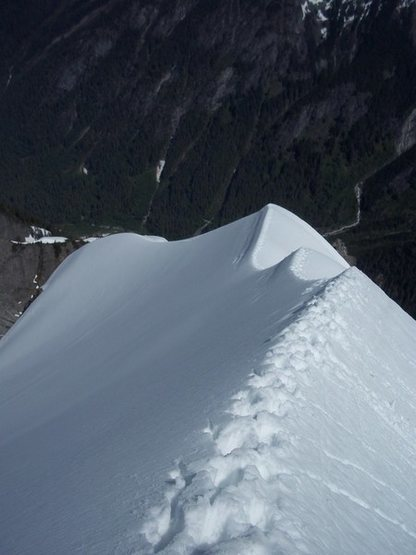 Rock Climbing Photo: The snow arete on J'berg
