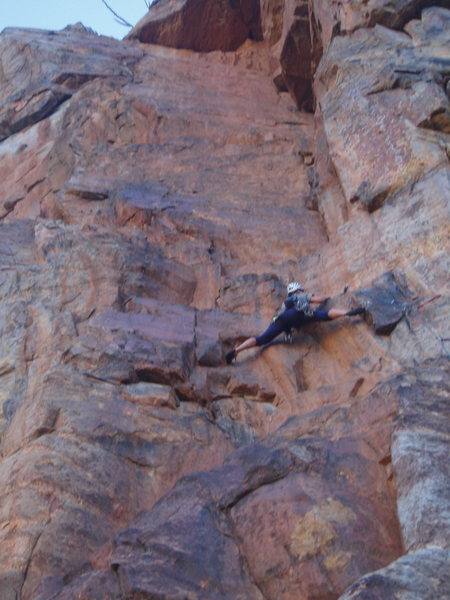 Rock Climbing Photo: JC at the crux of Psycho