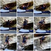 Rock Climbing Photo: Sequence series for Slab and Tickle