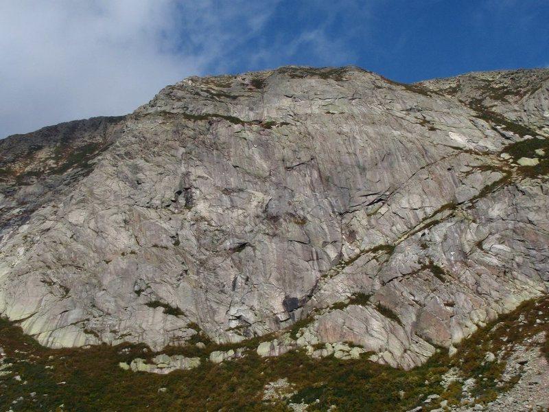 Rock Climbing Photo: Tab0r Wall, North Basin, Katahdin, ME