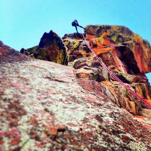 Rock Climbing Photo: Rap of The Matron,Flatirons, Colorado