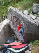 Rock Climbing Photo: Matt on the start