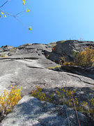 Rock Climbing Photo: Adam Crofoot partway up pitch 1 on the first ascen...